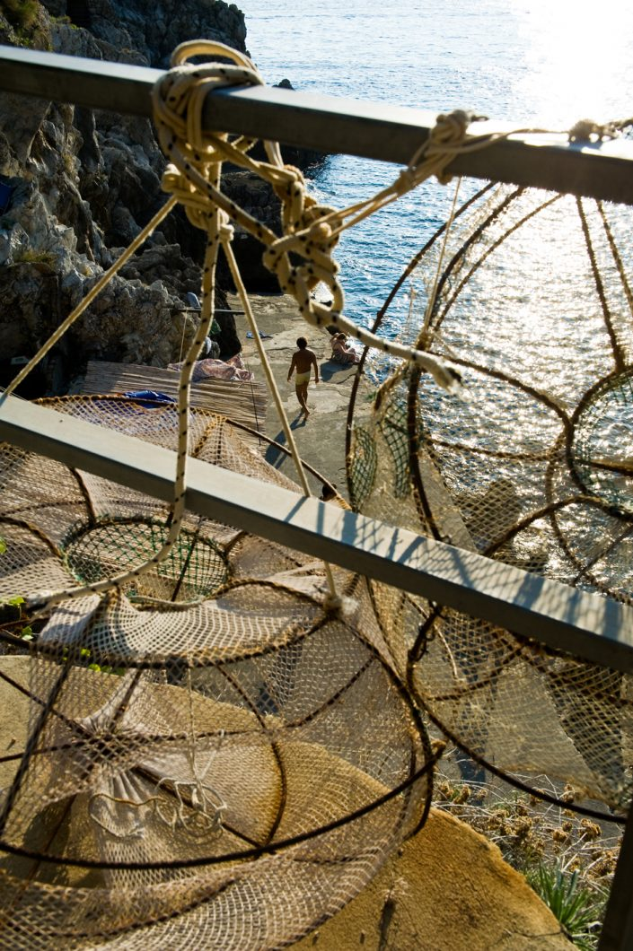 italy amalfi coast fishing nets
