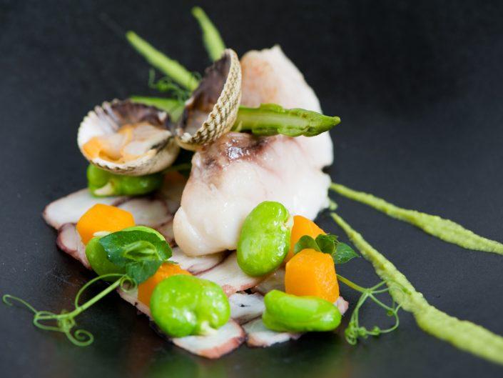 a fish dish at vineum rotterdam