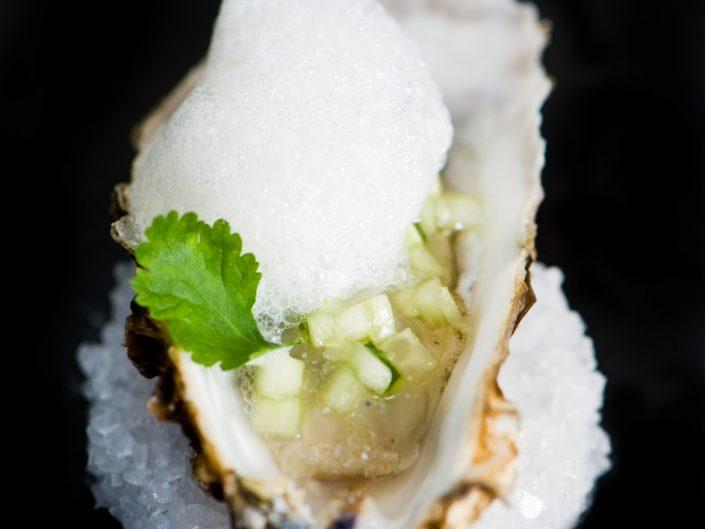 fresh oyster at vineum rotterdam