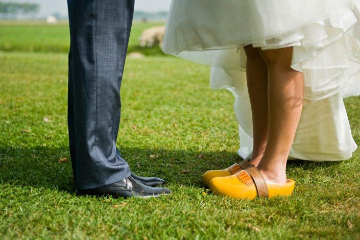 dutch wedding yellow clogs