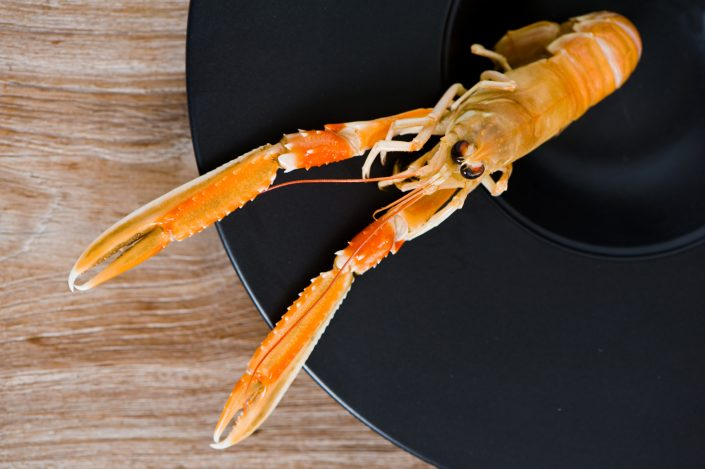 langoustine on a plate