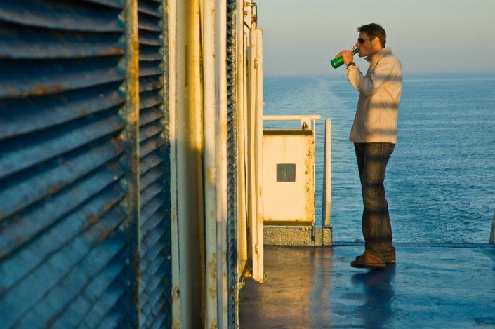 sundown on the ferry to england