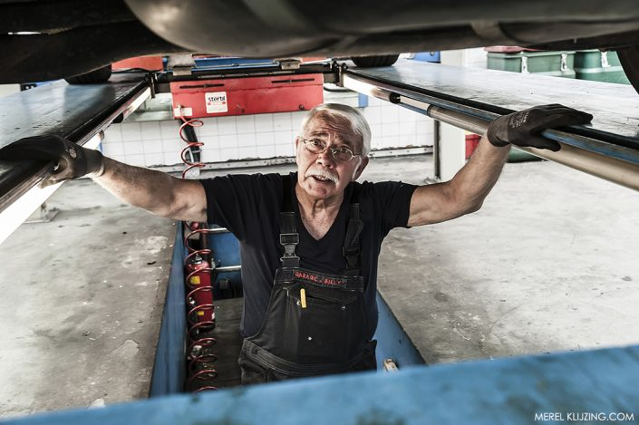 Mechanic working in Car repair shop