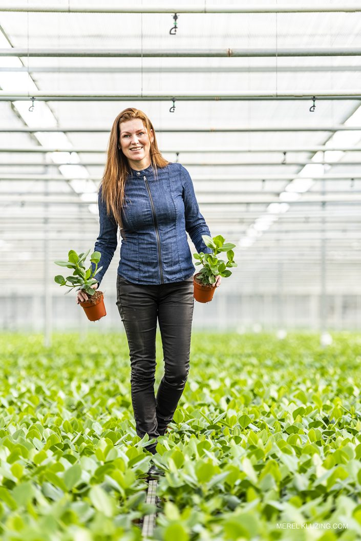 Entrepreneur in her Greenhouse
